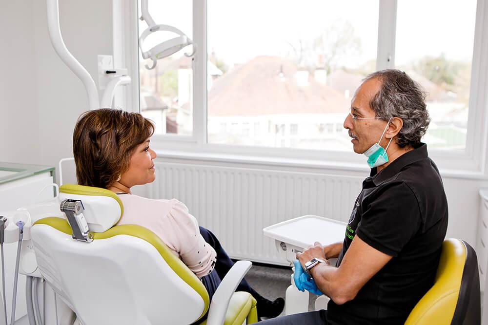 Nervous patient client consultation